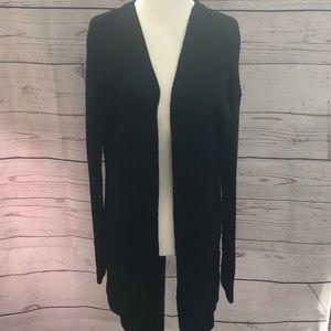 🐠2/$13 Long open black sweater